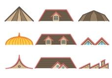 免费的屋顶矢量