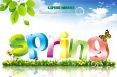 春季新品上市海报PSD模板
