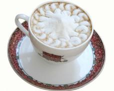 美味的奶油咖啡杯图片