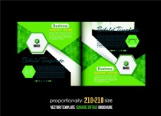 绿色多边形几何宣传册图片