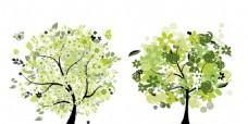 四季花朵树木