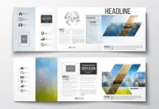 创意画册三折页设计图片