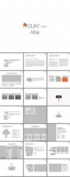 简约灰色可编辑图文排版欧美商务PPT模板