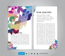 彩色三角形画册图片