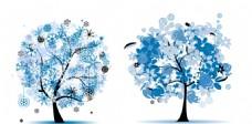 雪花树木 抽象花朵树木
