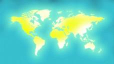 发光的世界地图