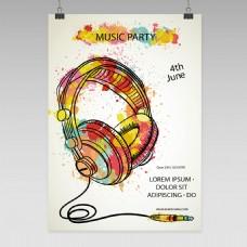 创意耳机海报