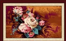 油画花卉装饰画无框画