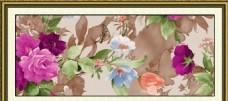 水彩花朵无框画