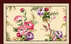 牡丹花卉装饰画无框画