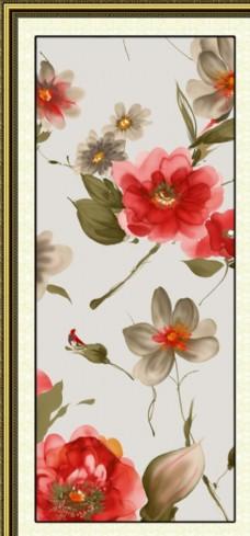 水彩手绘花朵无框画装饰画