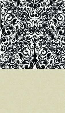 欧式花纹背景设计矢量素材