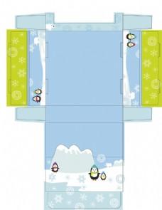 可愛小企鵝展示盒