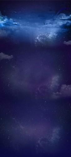 蓝色星空商城背景素材
