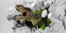恐龙立体画