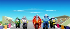 创意广告摩托车比赛flash动