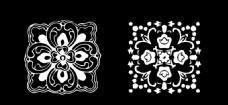 矢量窗花雕花設計