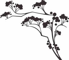 手绘植物 花草 矢量图