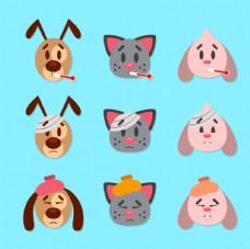 卡通动物头像