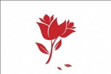 红色玫瑰矢量图